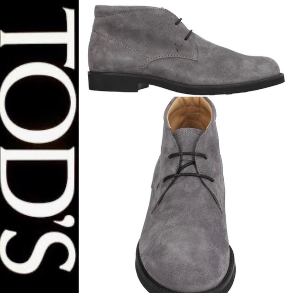 Tod's Shoes - Tod's Mens/Womens Gray Suede Ankle Boot